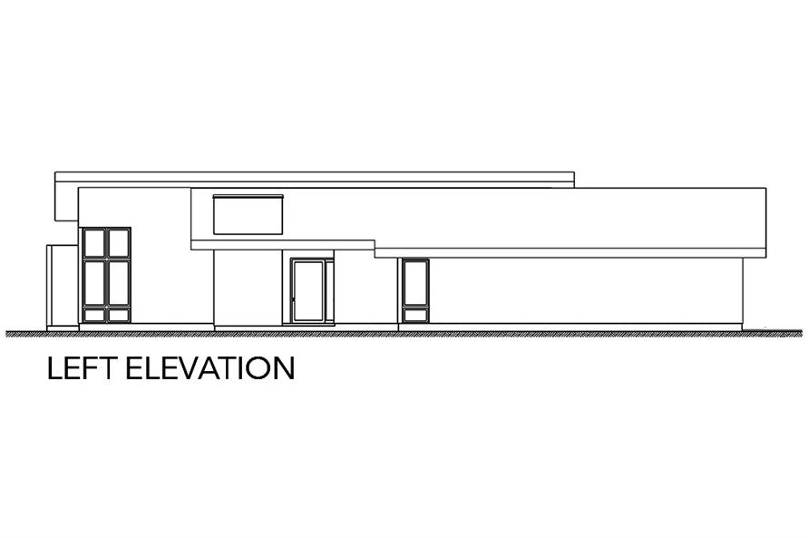 Home Plan Left Elevation of this 3-Bedroom,2002 Sq Ft Plan -136-1036