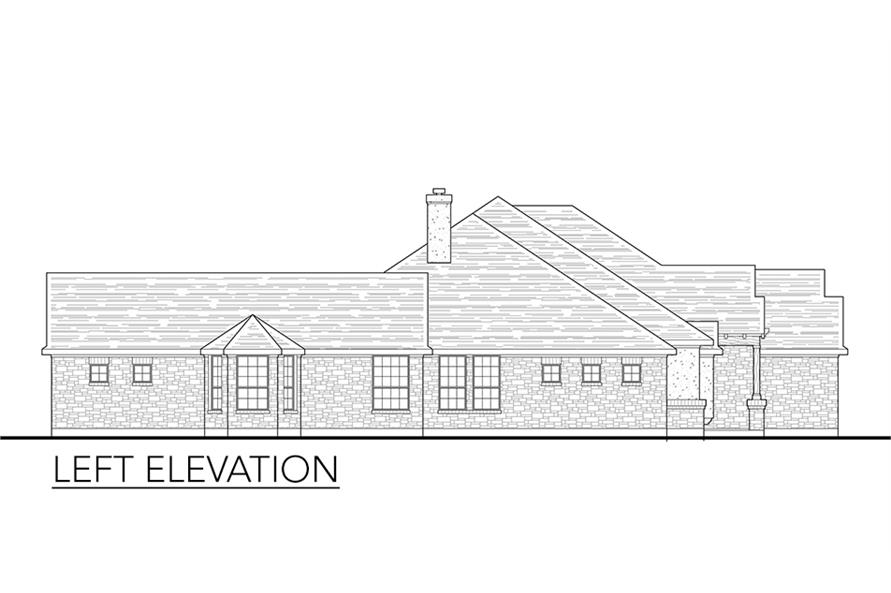 Home Plan Left Elevation of this 4-Bedroom,2772 Sq Ft Plan -136-1037