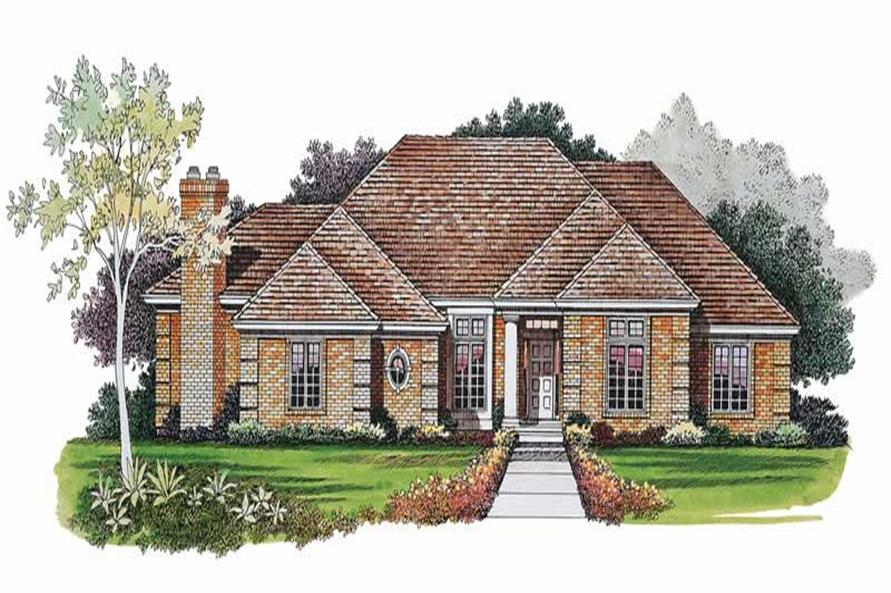3-Bedroom, 2393 Sq Ft Ranch House Plan - 137-1000 - Front Exterior