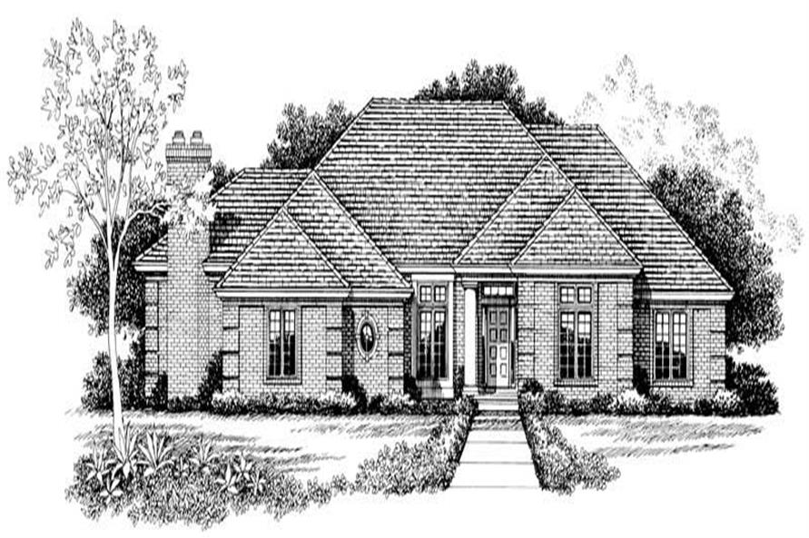 Home Plan Front Elevation of this 3-Bedroom,2393 Sq Ft Plan -137-1000
