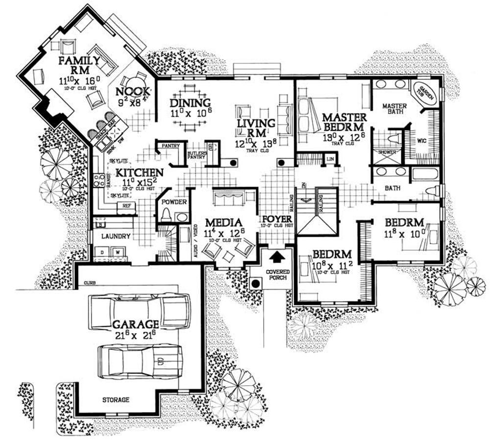 Large images for house plan 137 1000 for 1000 venetian way floor plans