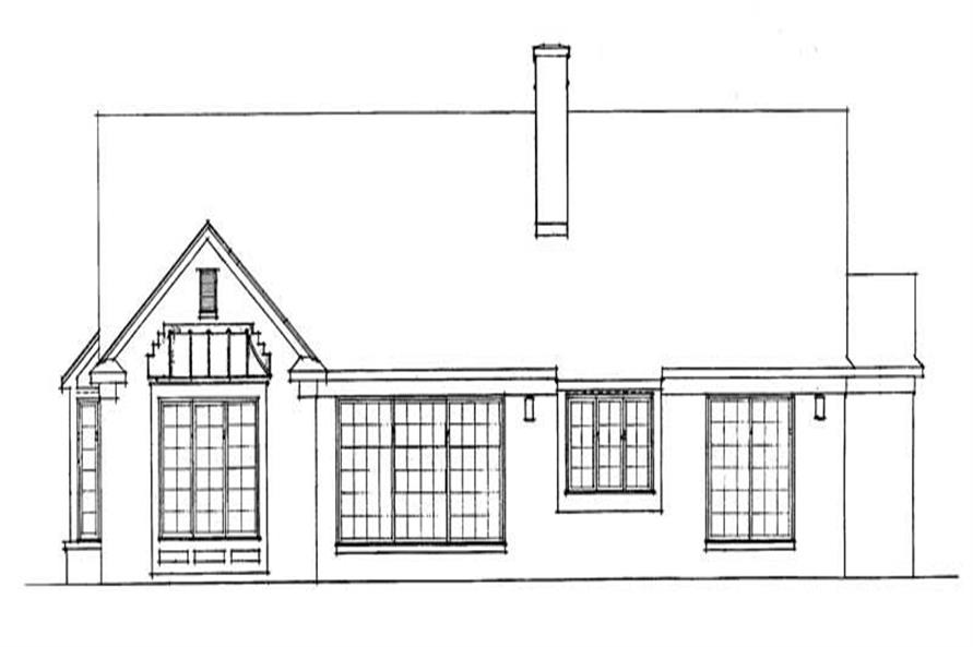 Home Plan Rear Elevation of this 3-Bedroom,2217 Sq Ft Plan -137-1002