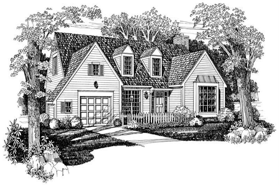 Country home (ThePlanCollection: Plan #137-1005)