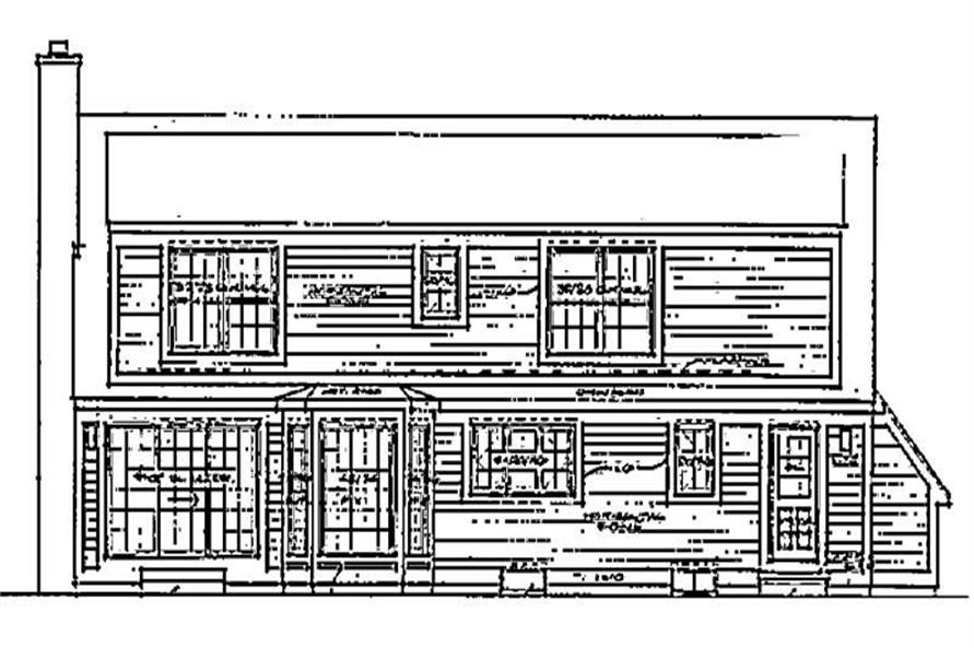 Home Plan Rear Elevation of this 3-Bedroom,2201 Sq Ft Plan -137-1005
