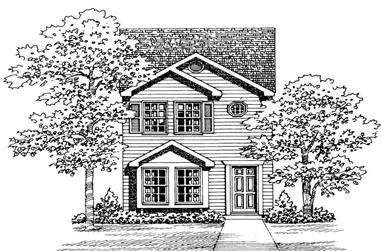 2-Bedroom, 1067 Sq Ft Country House Plan - 137-1007 - Front Exterior