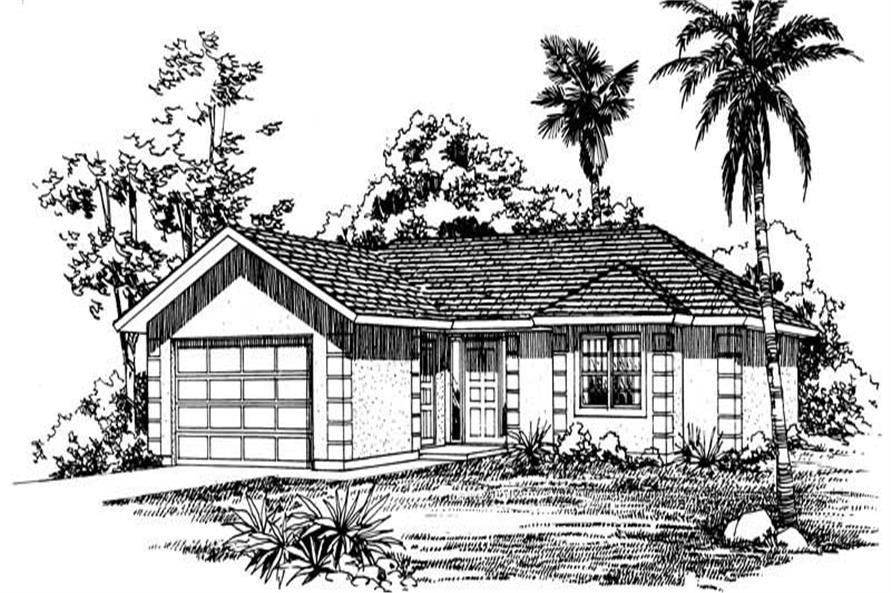 3-Bedroom, 1345 Sq Ft Ranch Home Plan - 137-1010 - Main Exterior
