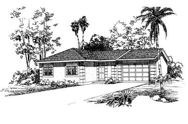 3-Bedroom, 1200 Sq Ft Small House Plans - 137-1011 - Front Exterior