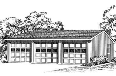 0-Bedroom, 75 Sq Ft Garage Home Plan - 137-1017 - Main Exterior