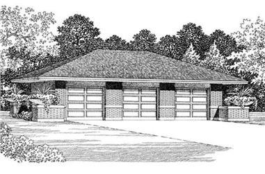 0-Bedroom, 50 Sq Ft Garage Home Plan - 137-1022 - Main Exterior