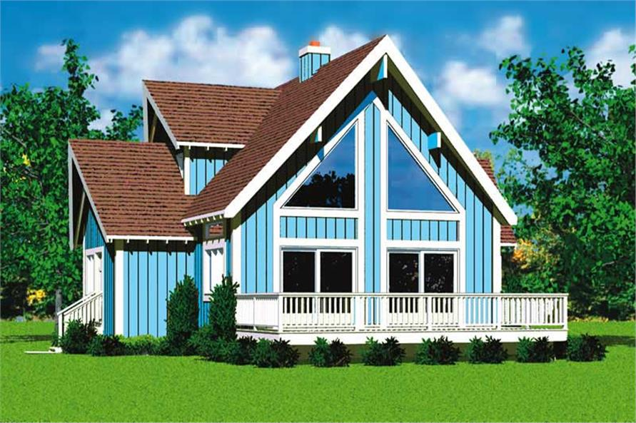 4-Bedroom, 1831 Sq Ft Contemporary House Plan - 137-1025 - Front Exterior