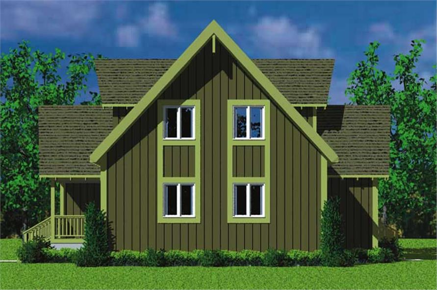 Home Plan Rear Elevation of this 4-Bedroom,1831 Sq Ft Plan -137-1025