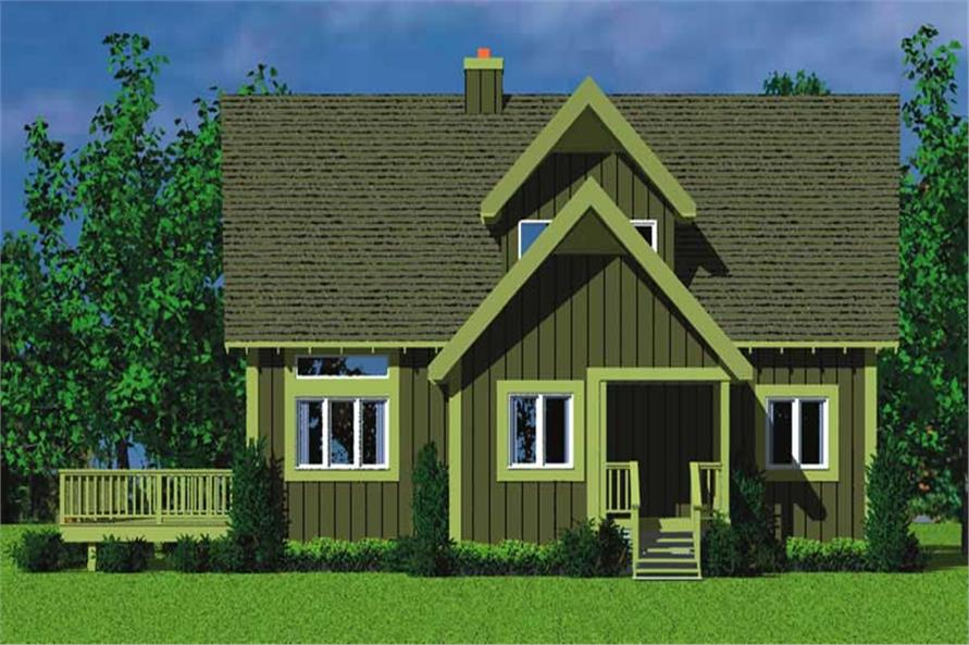Home Plan Right Elevation of this 4-Bedroom,1831 Sq Ft Plan -137-1025