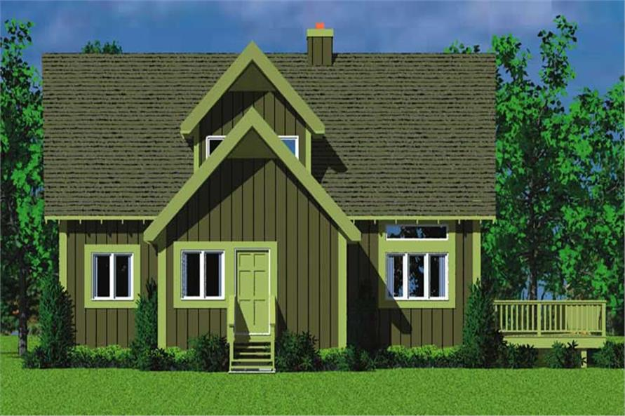 Home Plan Left Elevation of this 4-Bedroom,1831 Sq Ft Plan -137-1025