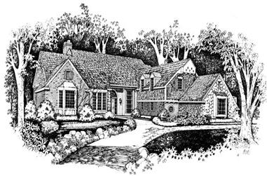 3-Bedroom, 4408 Sq Ft Country House Plan - 137-1027 - Front Exterior