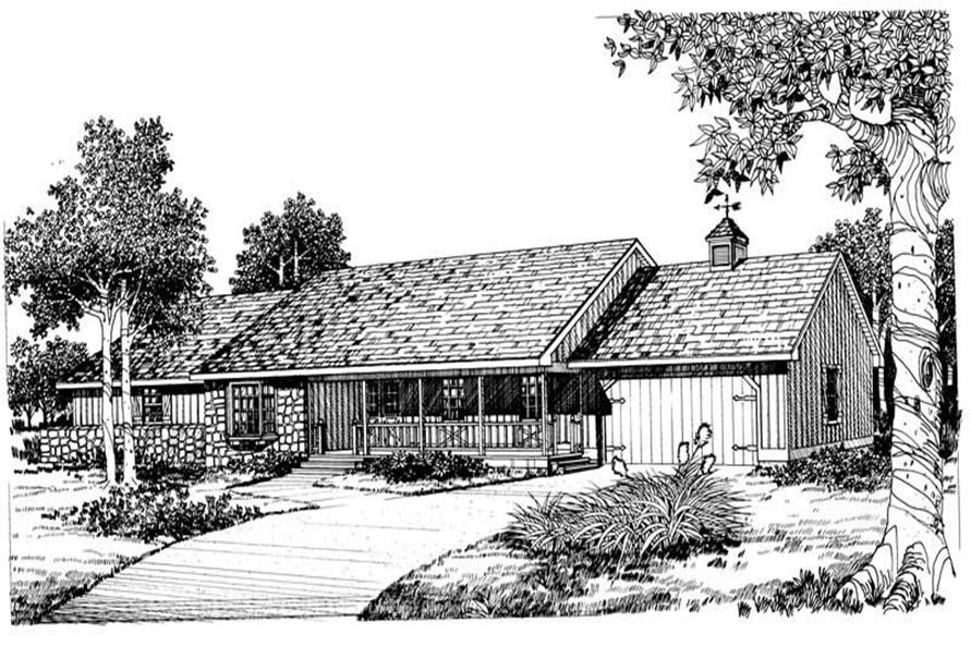 3-Bedroom, 2306 Sq Ft Contemporary Home Plan - 137-1028 - Main Exterior