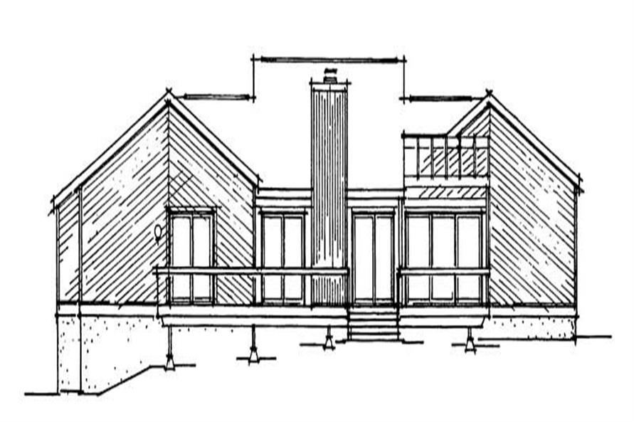 Home Plan Rear Elevation of this 3-Bedroom,1873 Sq Ft Plan -137-1030