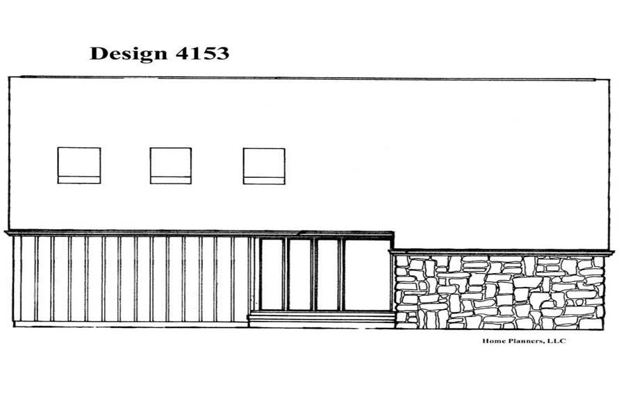Home Plan Rear Elevation of this 3-Bedroom,1442 Sq Ft Plan -137-1032