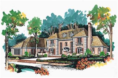 5-Bedroom, 4648 Sq Ft Mediterranean House Plan - 137-1035 - Front Exterior