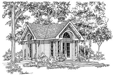 1-Bedroom, 320 Sq Ft Garage House Plan - 137-1039 - Front Exterior