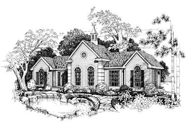 1-Bedroom, 988 Sq Ft Country House Plan - 137-1049 - Front Exterior