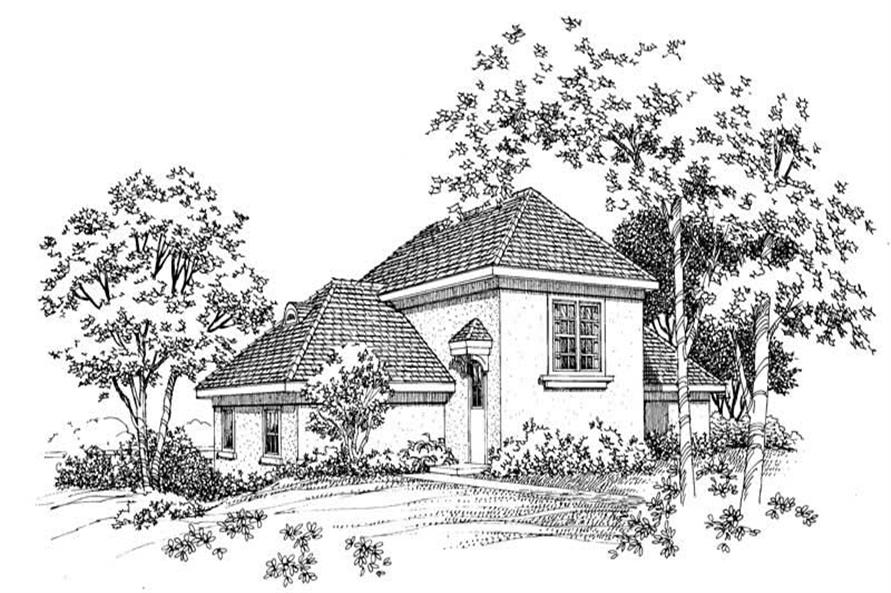 Home Plan Rear Elevation of this 1-Bedroom,1807 Sq Ft Plan -137-1053