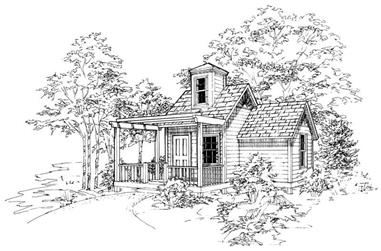 1-Bedroom, 183 Sq Ft Garage House Plan - 137-1058 - Front Exterior