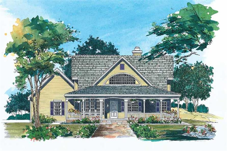 3-Bedroom, 2170 Sq Ft Country Home Plan - 137-1059 - Main Exterior