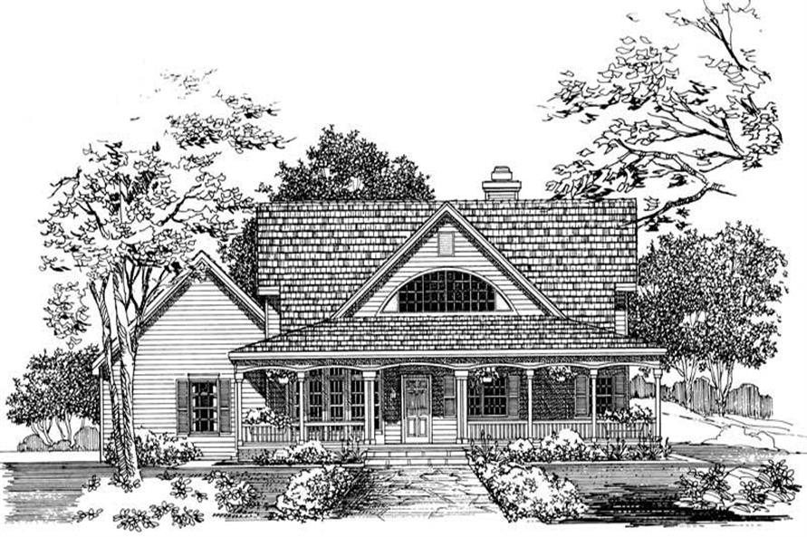Home Plan Front Elevation of this 3-Bedroom,2170 Sq Ft Plan -137-1059