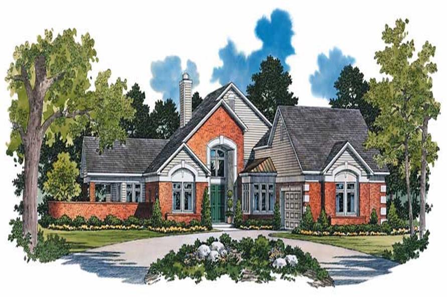 4-Bedroom, 2471 Sq Ft Mediterranean Home Plan - 137-1060 - Main Exterior