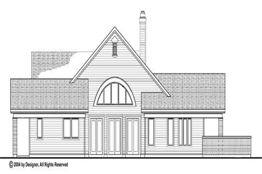 Home Plan Rear Elevation of this 4-Bedroom,2471 Sq Ft Plan -137-1060