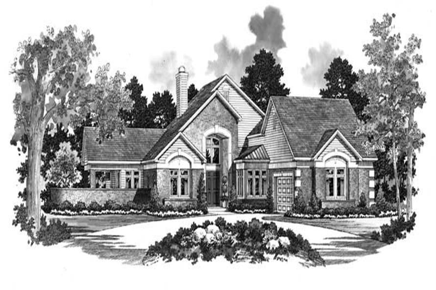 Home Plan Front Elevation of this 4-Bedroom,2471 Sq Ft Plan -137-1060
