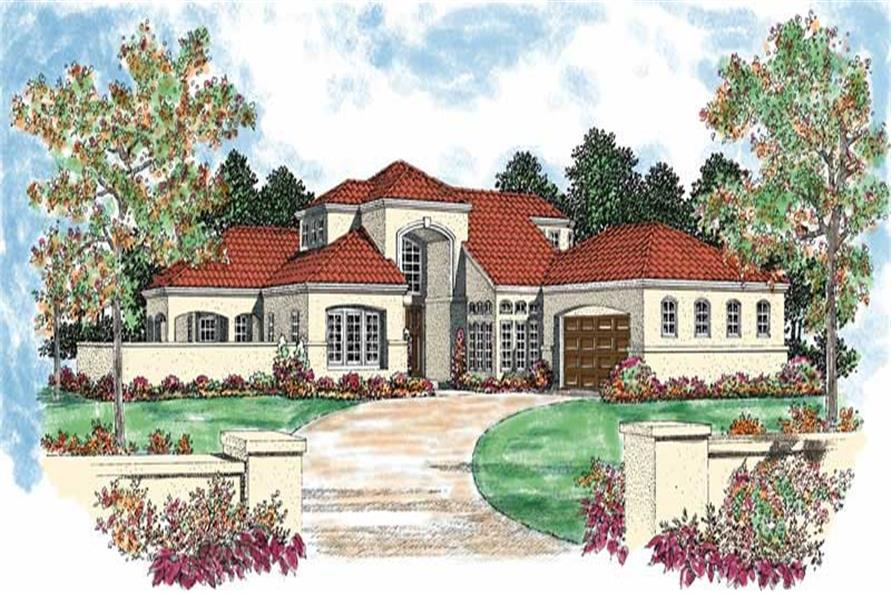 5-Bedroom, 2678 Sq Ft Mediterranean Home Plan - 137-1063 - Main Exterior