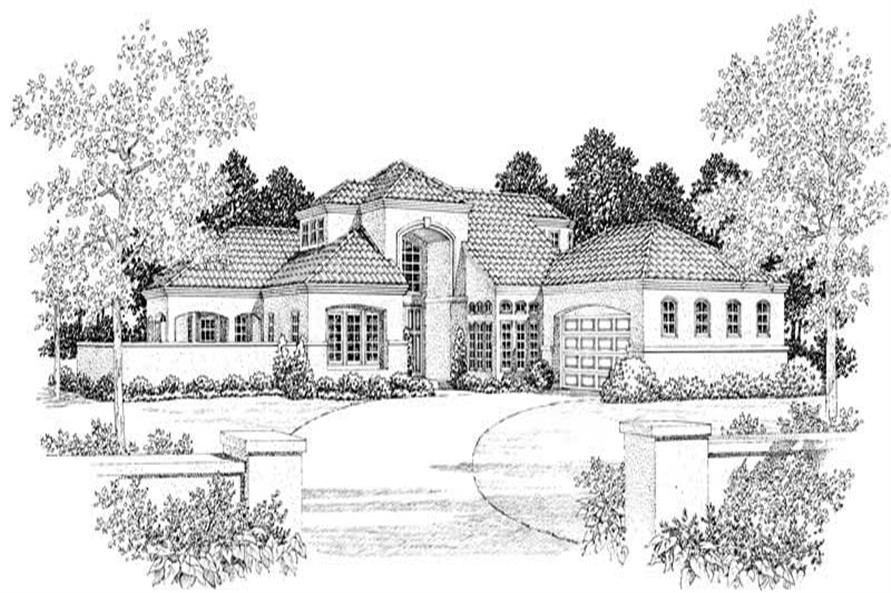 Home Plan Front Elevation of this 5-Bedroom,2678 Sq Ft Plan -137-1063