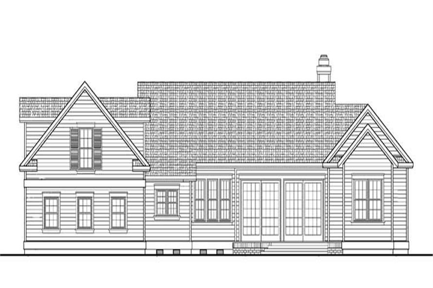 Home Plan Rear Elevation of this 3-Bedroom,1937 Sq Ft Plan -137-1065