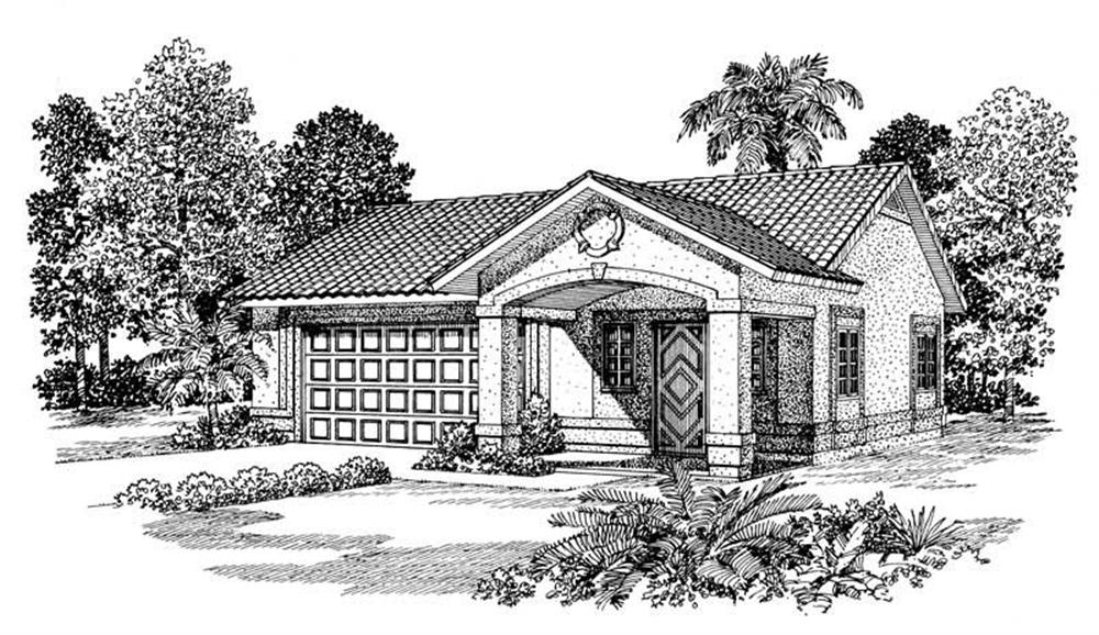 Front elevation of Garage home (ThePlanCollection: House Plan #137-1070)