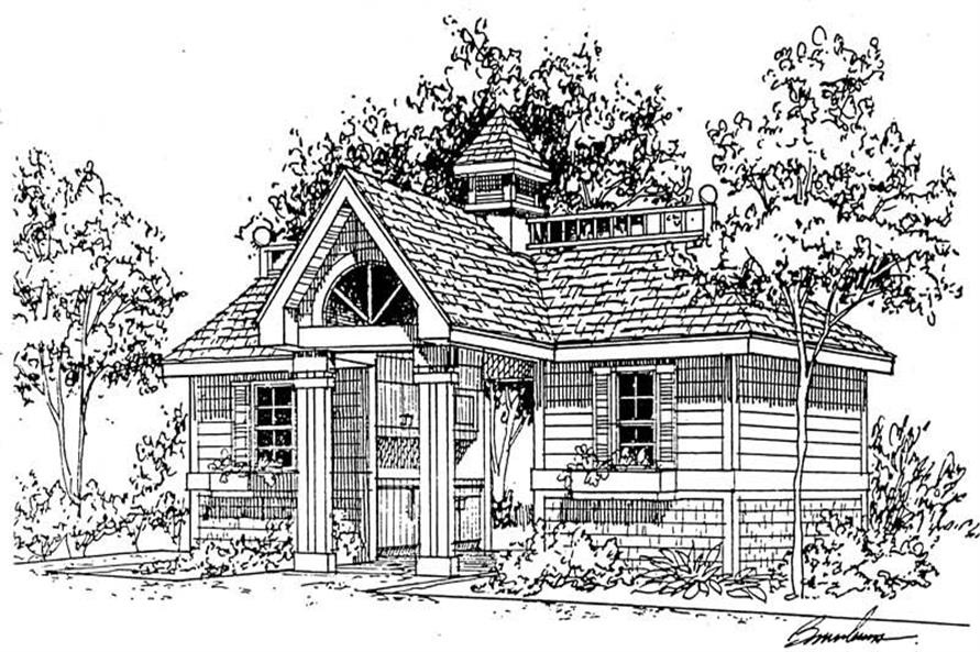 1-Bedroom, 250 Sq Ft House Plan - 137-1071 - Front Exterior
