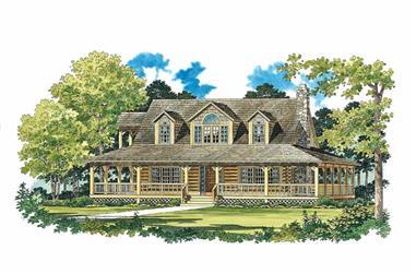 Log House Plans Front Elevation.