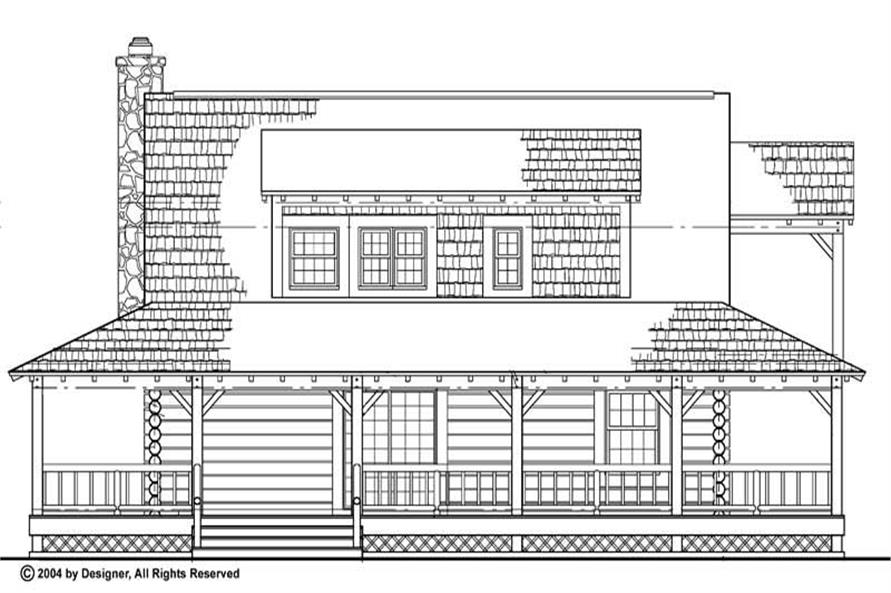 Home Plan Rear Elevation of this 3-Bedroom,1715 Sq Ft Plan -137-1073