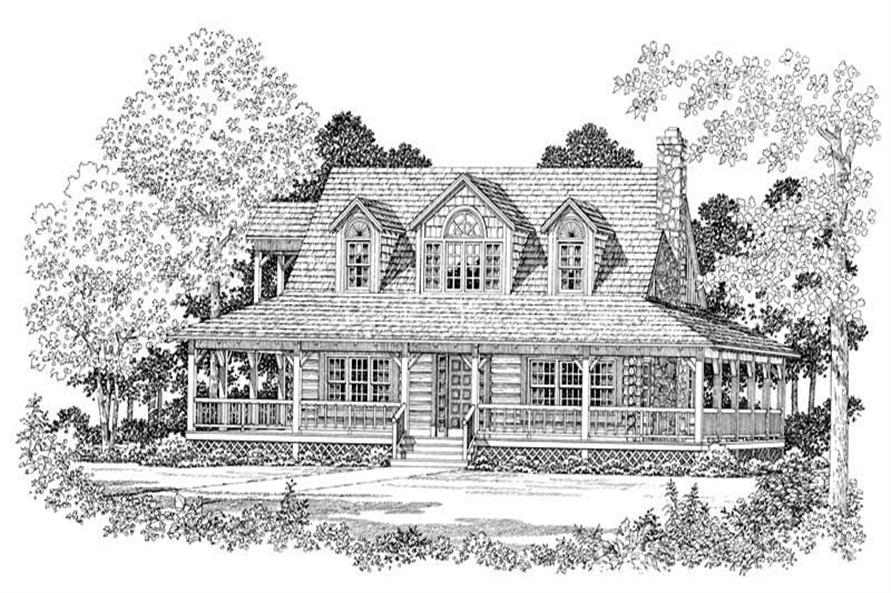 Home Plan Front Elevation of this 3-Bedroom,1715 Sq Ft Plan -137-1073