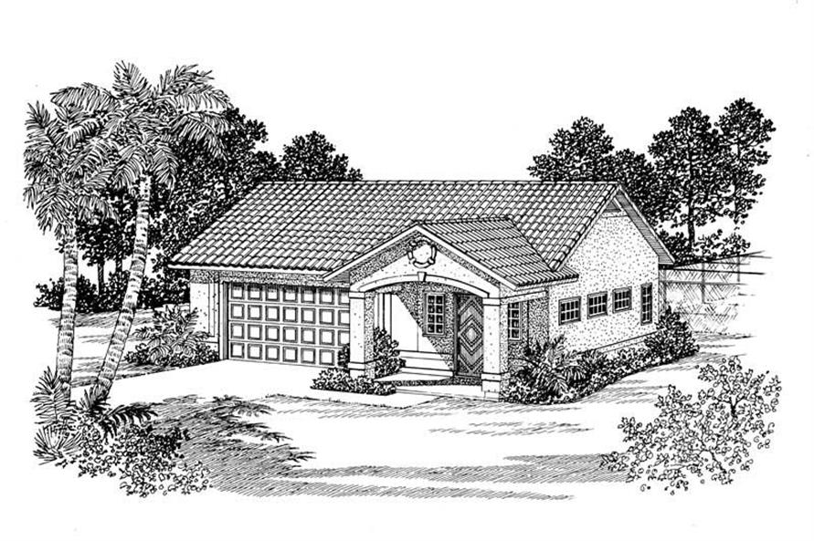 1-Bedroom, 306 Sq Ft Garage Home Plan - 137-1077 - Main Exterior