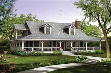 3-Bedroom, 1673 Sq Ft Country House Plan - 137-1079 - Front Exterior