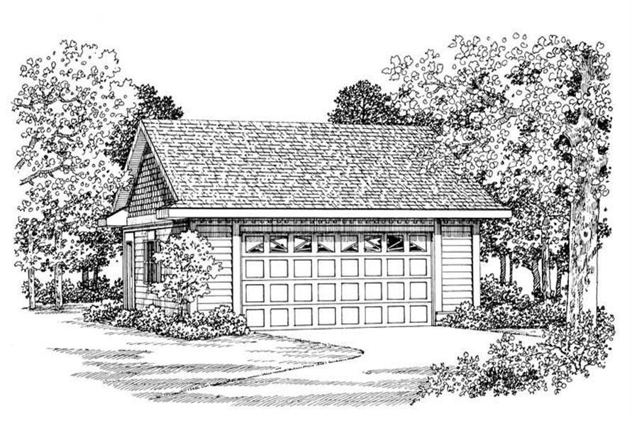 Front elevation of Garage home (ThePlanCollection: House Plan #137-1080)