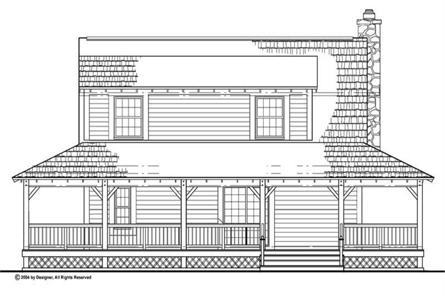Home Plan Rear Elevation of this 3-Bedroom,1696 Sq Ft Plan -137-1081