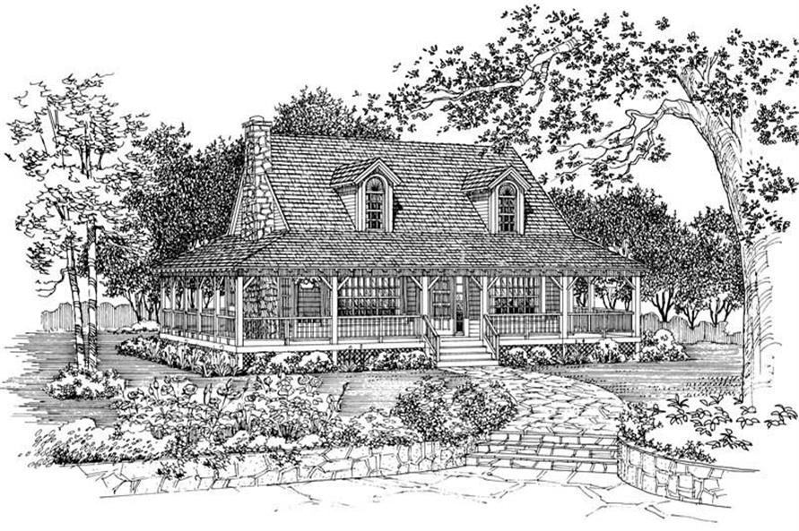 Home Plan Front Elevation of this 3-Bedroom,1696 Sq Ft Plan -137-1081