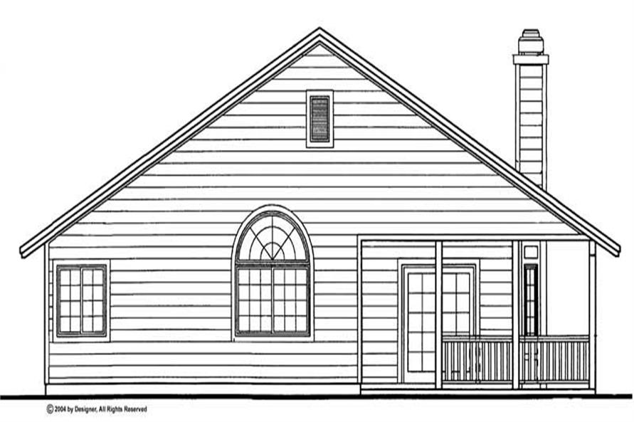 Home Plan Rear Elevation of this 3-Bedroom,1646 Sq Ft Plan -137-1084