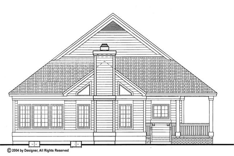 Home Plan Rear Elevation of this 2-Bedroom,1295 Sq Ft Plan -137-1085