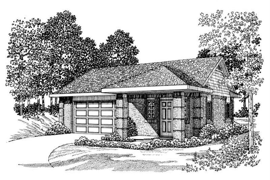 1-Bedroom, 900 Sq Ft Garage House Plan - 137-1087 - Front Exterior