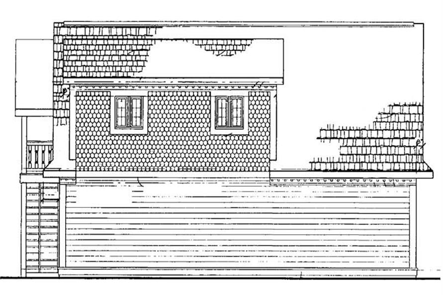 Home Plan Rear Elevation of this 1-Bedroom,1590 Sq Ft Plan -137-1093
