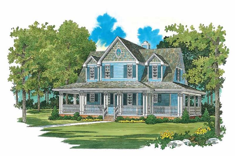3-Bedroom, 1640 Sq Ft Country Home Plan - 137-1097 - Main Exterior