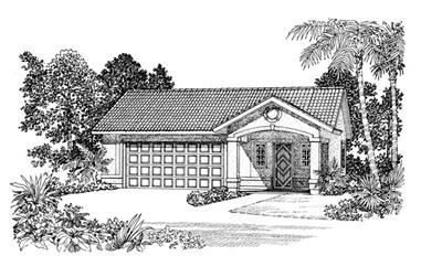 1-Bedroom, 321 Sq Ft Garage House Plan - 137-1100 - Front Exterior